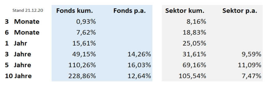 Top China Fonds im Sektorvergleich